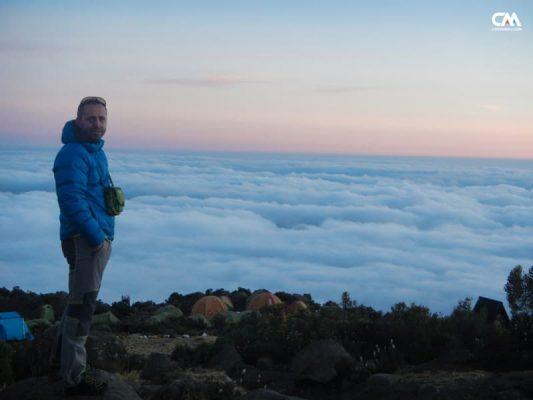 costin miu la Horombo Hut, 3800m, kilimanjaro