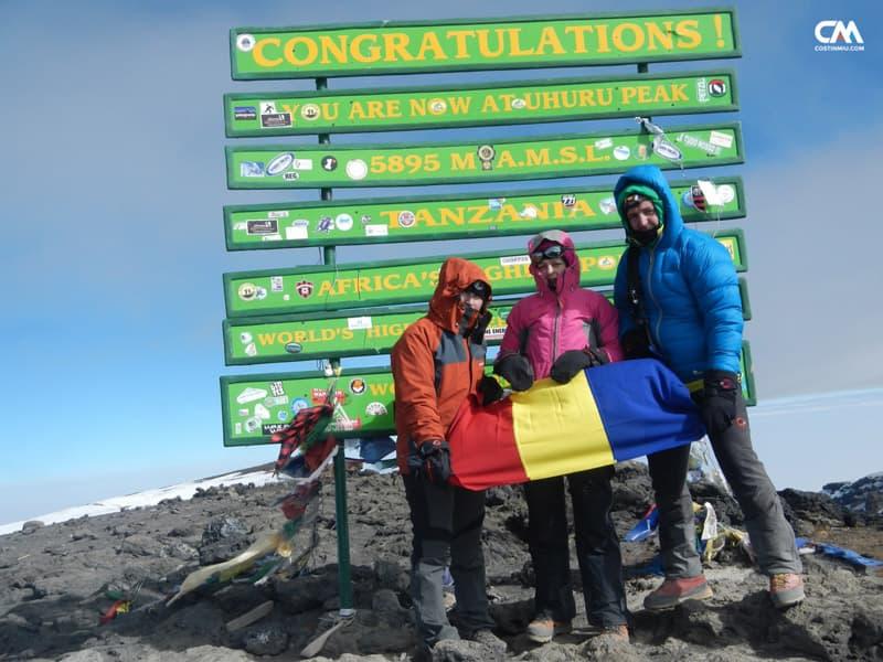 pe vârful lui kilimajaro, 6895m