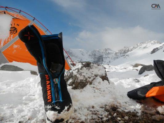 bocanci de altitudine în canada camp (5000m), aconcagua