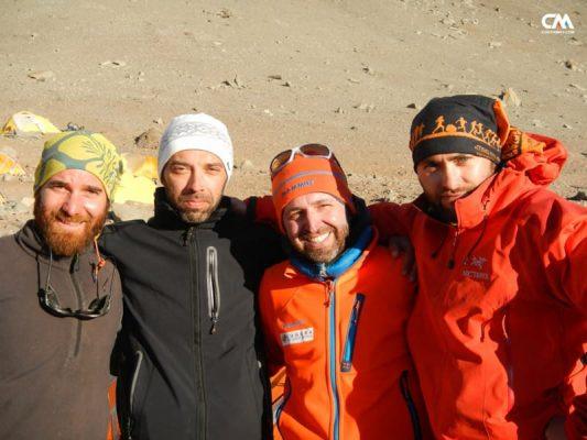 alpiniști la canada camp, aconcagua