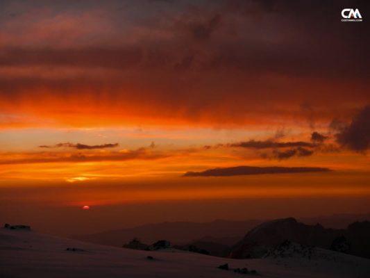 apus după furtună la nido camp, 5500m, aconcagua