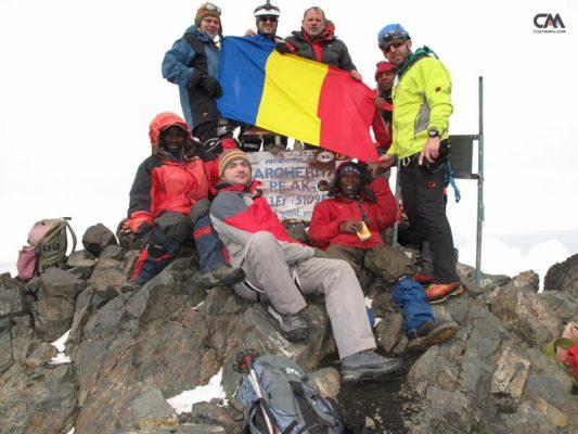 alpiniști români pe vârful lui rwenzori, uganda