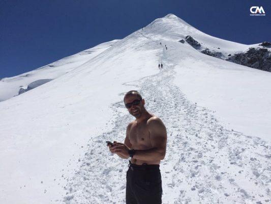 Costin Miu la Vallot, Mont Blanc