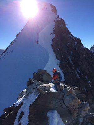 costin miu spre dufourspitze, alpi, elveția