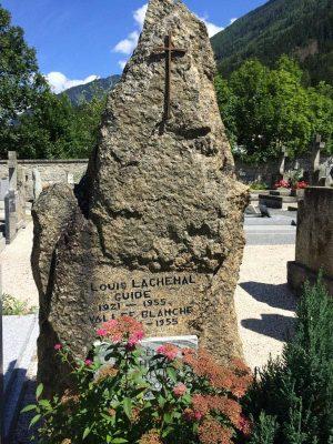 mormântul lui louis lachenal, chamonix, franța