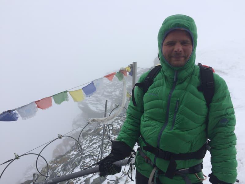 Alpinist la Gouter, Mont Blanc