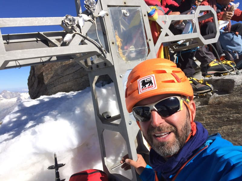 costin miu pe dufourspitze, monte rosa, alpi
