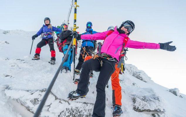 alpiniști români pe Musala, bulgaria